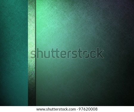 teal blue formal elegant background with scratch parchment texture and matching color ribbon with blank copyspace for text or menu ideas - stock photo
