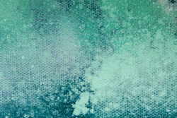 Teal colored canvas, abstract background or texture