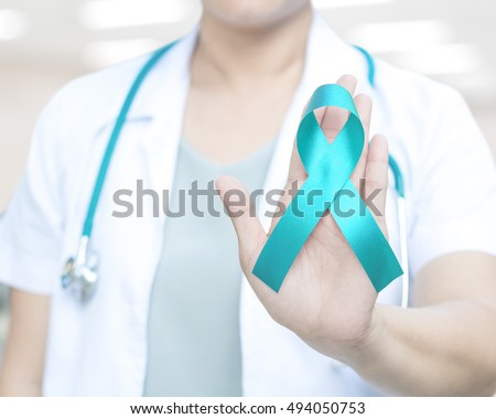 Teal green ribbon awareness for Cervical Cancer Awareness Month in January and Anti Bullying, Agoraphobia,Anxiety Disorder,Batten Disease awareness, Ovarian Cancer in September.
