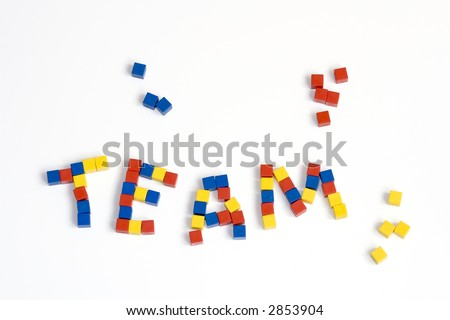 team - abstract conception