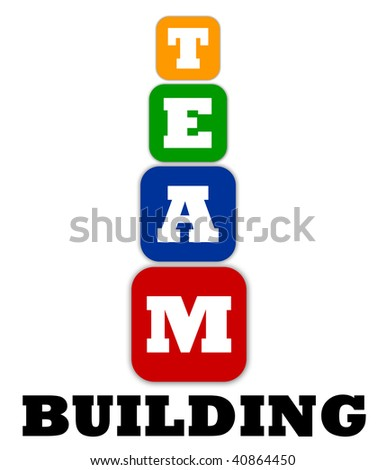 Team building concept with cubes