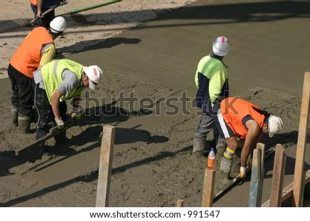 Team effort  - Commercial cementing in progress