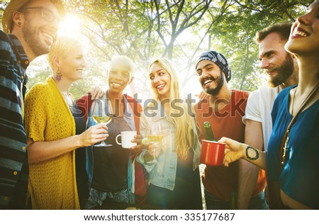 Team Friendship Leisure Vacation Togetherness Fun Concept #335177687