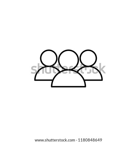 team icon. Element of hockey icon for mobile concept and web apps. Thin line team icon can be used for web and mobile on white background