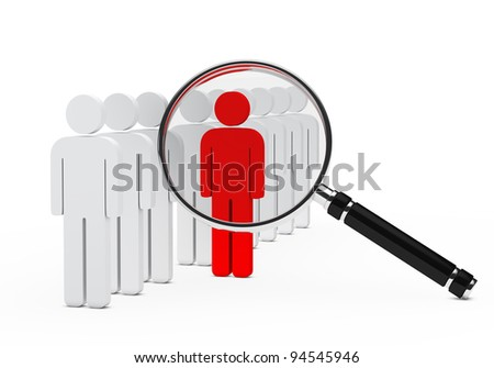 team in series red leader magnifying glass