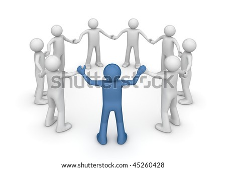 Team leader (3d isolated characters, business series)