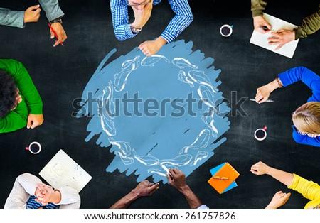 Team Meeting School of Fish Cycle Circle Zen Concept