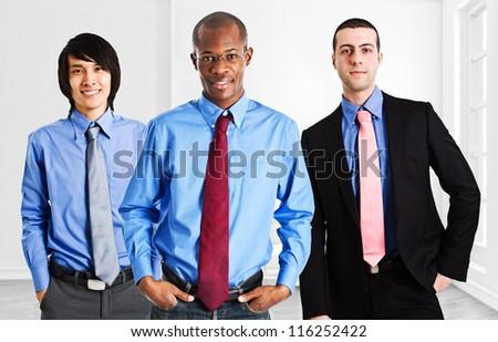 Team of businessmen of diverse ethnicity