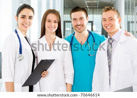 Team of doctors at a hospital