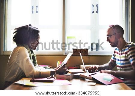 Team Partner Communication Connection Devices Concept