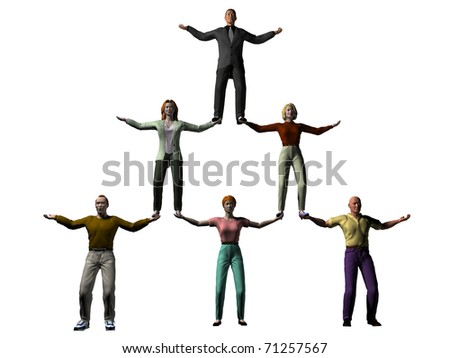 team spirit, team work, - stock photo
