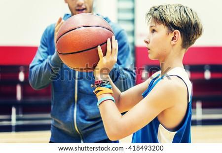 Team Teamwork Basketball Training Game Concept