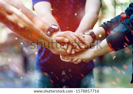 Teamwork and Unity Teamwork, handshaking in the team Team concept