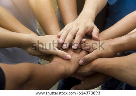 Teamwork approach concept.