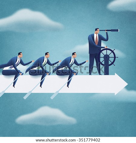 Teamwork. Business illustration