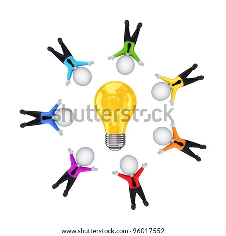 Teamwork concept.Isolated on white background.