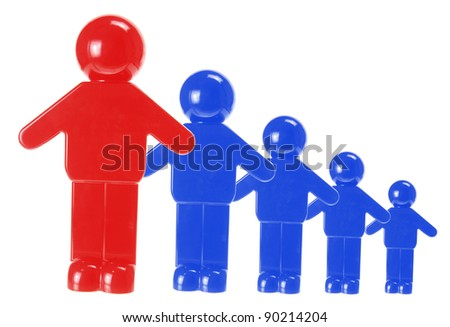 Teamwork Concept on White Background - stock photo