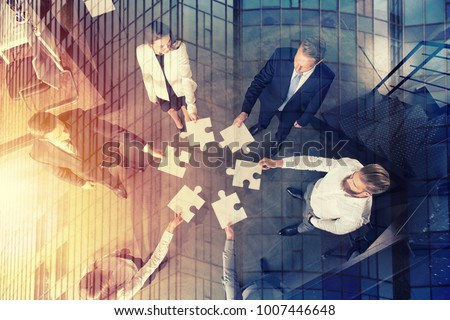 teamwork of partners. concept...