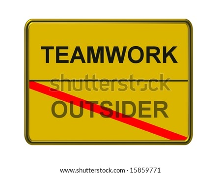 teamwork - outsider