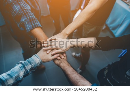 Teamwork unity Arms consolidation
