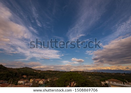 Teano, Caserta, Campania. Town of pre-Roman origins, located on the slopes of the volcanic massif of Roccamonfina.  Panorama.