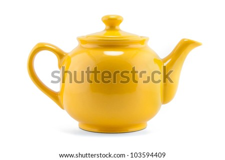 teapot isolated - stock photo