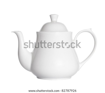 teapot isolated on white.