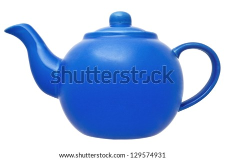 Teapot Isolated on White Background Without Shade