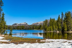 Teapot Lake is along the Mirror Lake Scenic Byway in the Uinta Mountains in northern Utah.