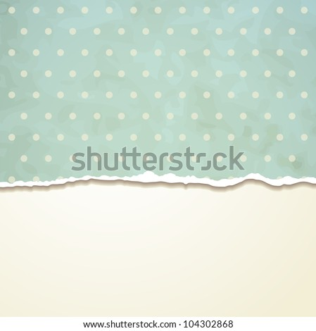 Tear paper on abstract  background. Raster version of the loaded vector