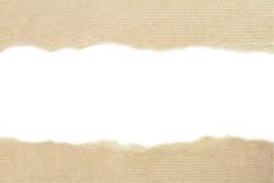 Tear Paper texture - brown paper sheet.