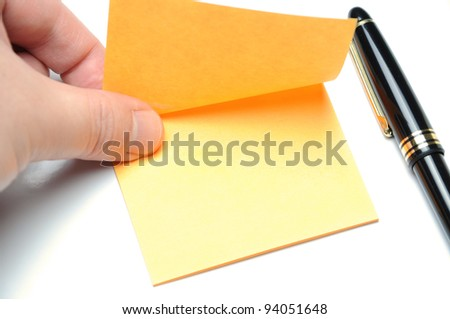 Tearing adhesive note