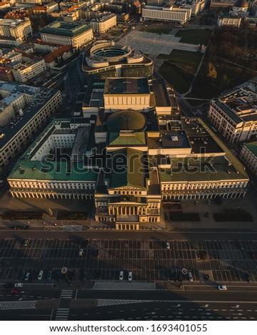 Teatr Wielki in Warsaw from air. Zdjęcia stock ©