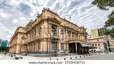 Teatro Colon at Plaza Lavalle in Buenos Aires, Argentina Foto stock ©