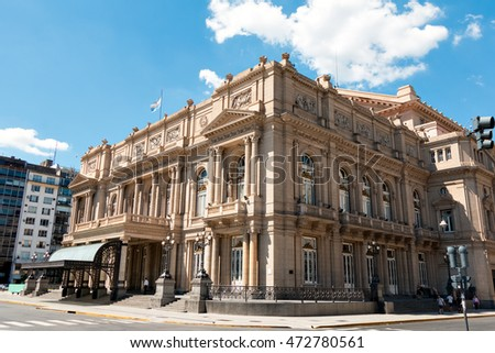 Teatro Colon (Columbus Theatre) symphony hall in the district San Nicoas of Buenos Aires Argentine #472780561