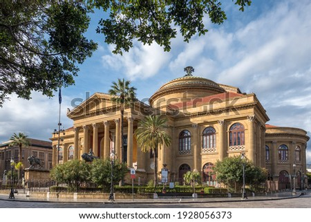 Teatro Massimo in Palermo, Sicily, Italy Foto stock ©