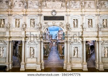 Teatro Olimpico in Vicenza, UNESCO world heritage in Italy Foto stock ©