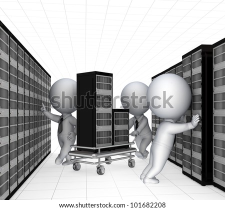 Tech support concept.Isolated on white background.3d rendered.
