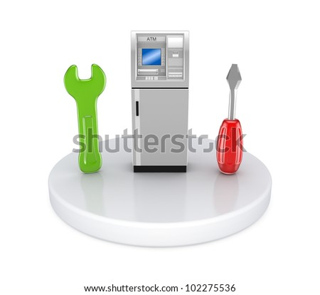 Tech support concept. Isolated on white background. 3d rendered.