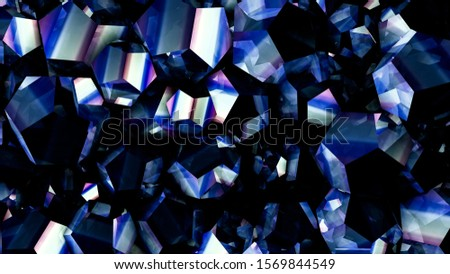 Tech tech triangle crystal background. 3d illustration, 3d rendering.