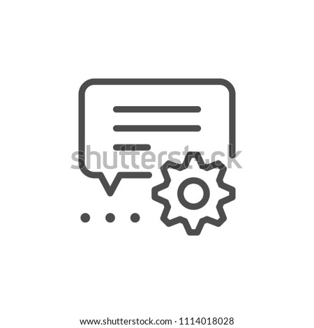 Technical conversation line icon isolated on white