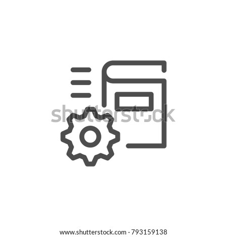 Technical documentation line icon isolated on white