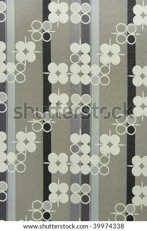 Technical motif: Detail of upholstery pattern on chair at community college - stock photo