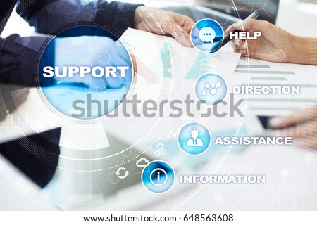 Technical support. Customer help. Business and technology concept. #648563608