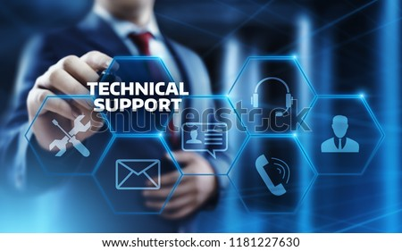 Technical Support Customer Service Business Technology Internet Concept. #1181227630