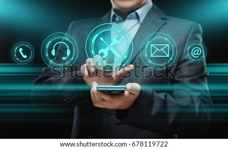 Technical Support Customer Service Business Technology Internet Concept #678119722