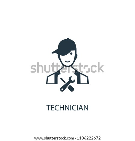 technician icon. Simple element illustration. technician concept symbol design from car service collection. Can be used for web and mobile.