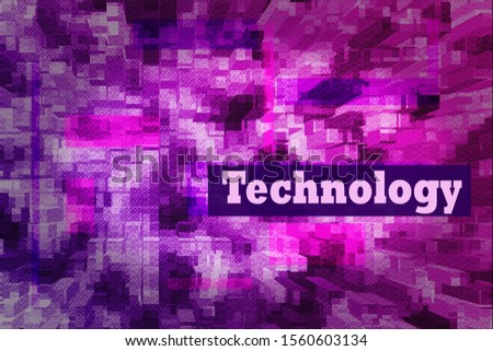 Techno abstract background, pink and blue screen. Transparent rectangles. Abstract Techno Lines Background, copy space for design, desktop, wallpapers, banners, social media covers. Technology text