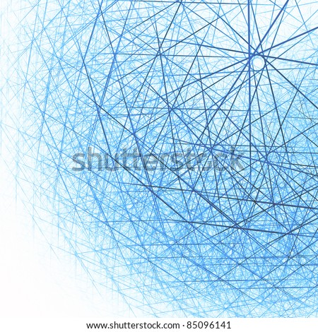 Techno cloud abstract background. Lowpoly polygonal triangles design. Big data digital illustration #85096141