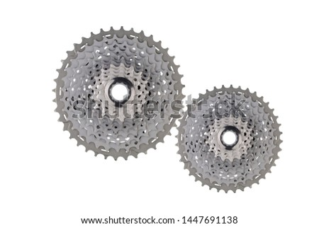 Techno gear background with gear wheels. Space for gear text. Gears modern mechanism industrial concept. Technology gears background. gears on white background.